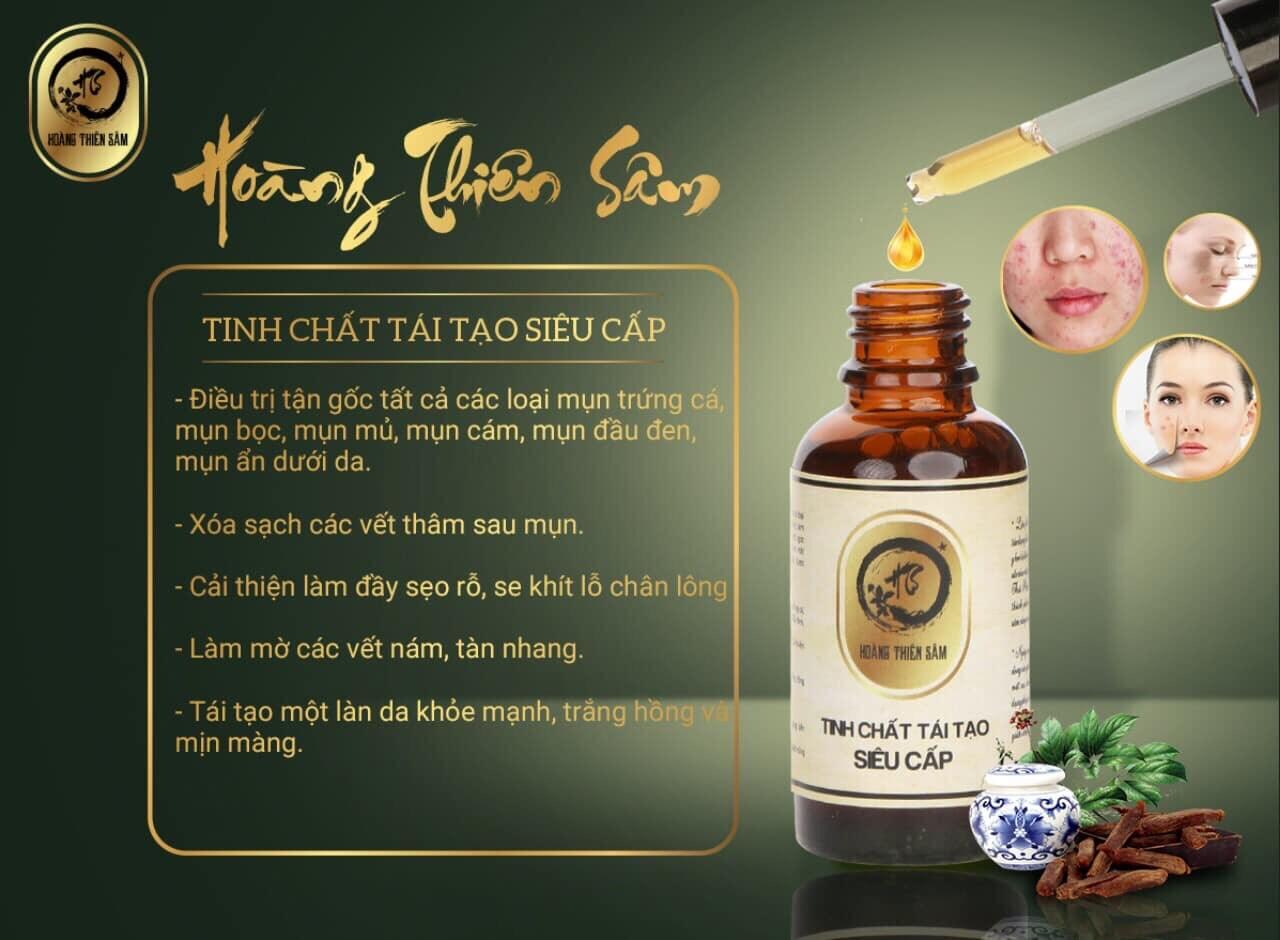 Hoàng Thiên Sâm Trị Mụn KHÔNG SƯNG KHÔNG ĐỎ - HTS01