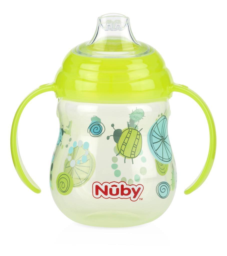 Bình uống nước Nuby đầu mỏ vịt silicon