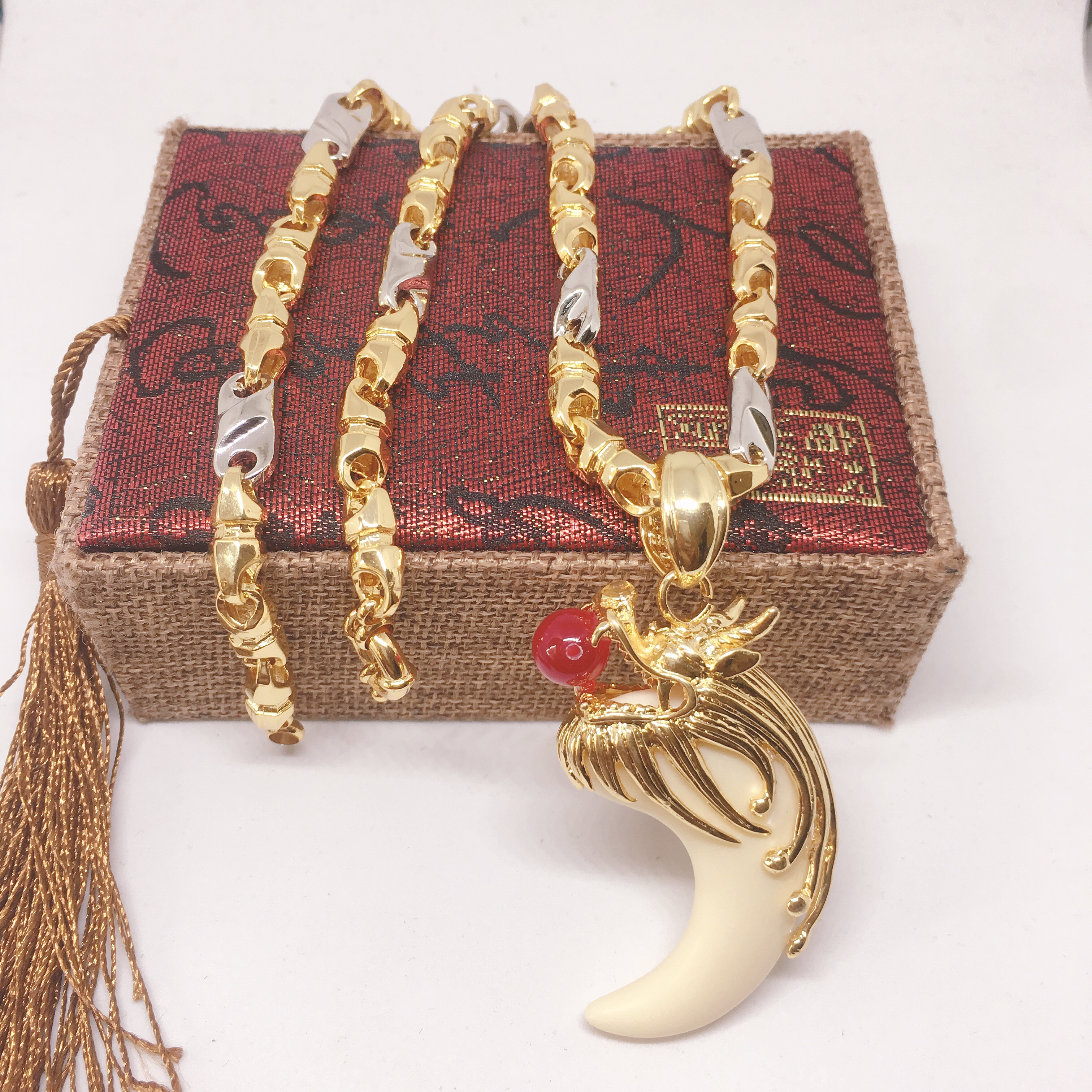 Dây chuyền vàng Thiên Long nam, vòng cổ vàng nam Vàng cao cấp, Bảo tín Jewelry