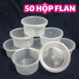 50 hộp nhựa làm bánh flan, rau câu, sữa chua