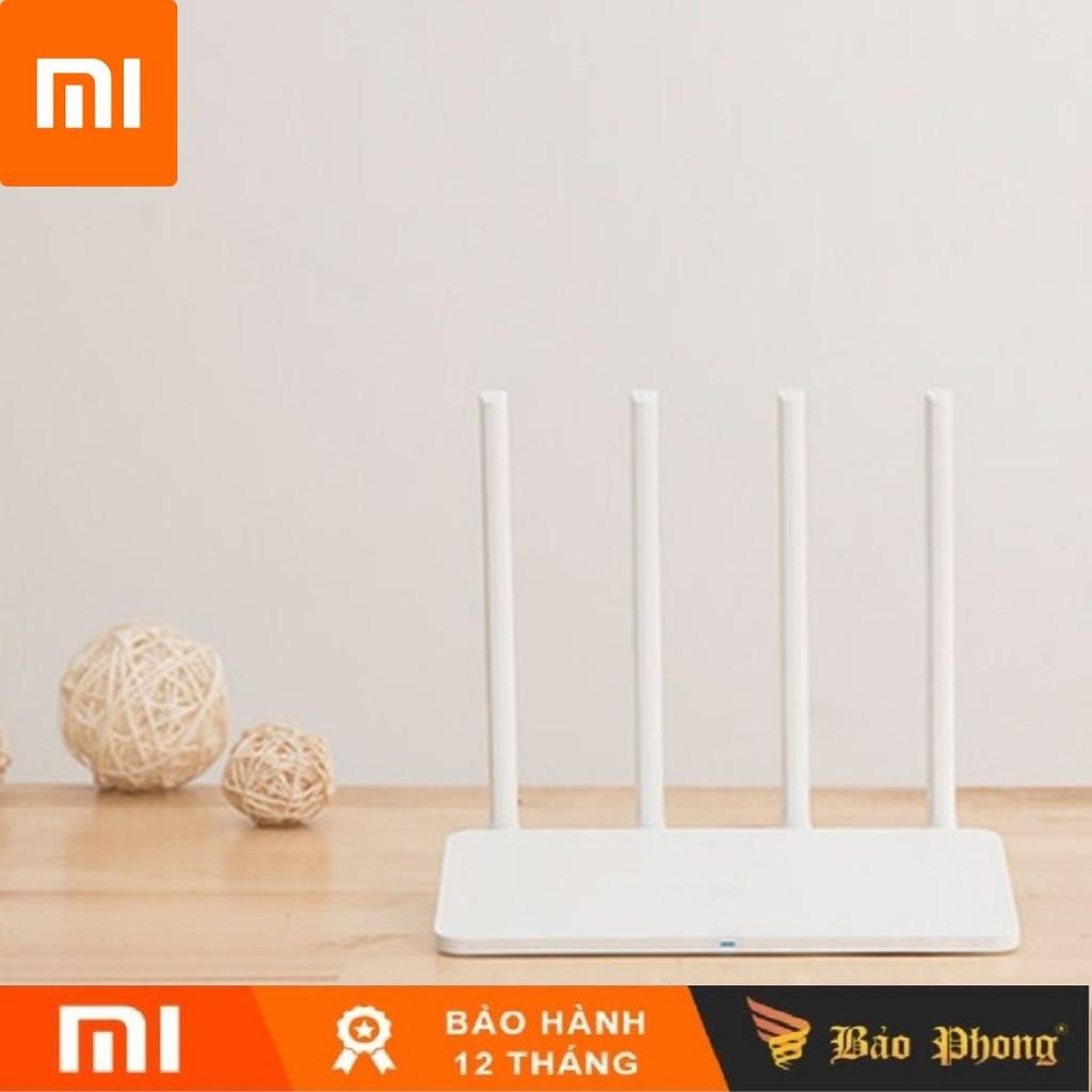 Modem WiFi Xiaomi 4C 4 Râu Router R4CM - BH 1 năm - Phát xuyên tường bảo mật truyền tín hiệu mạng mạnh internet ăng ten