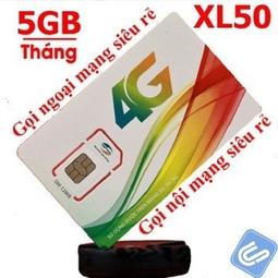 Sim 3G/4G Viettel XL50 Khuyến Mại Gói 5GB/Tháng Tốc Độ Cao