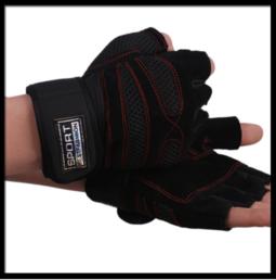 Bao tay hở ngón hỗ trợ tập Gym/chơi thể thao an toàn hơn (1 ĐÔI)