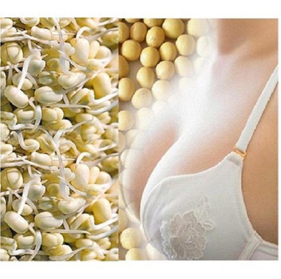 500g Bột Mầm Đậu Nành Nguyên xơ - Uống Tăng Kích Cỡ Vòng 1 Phụ Nữ - Có Tặng Quà