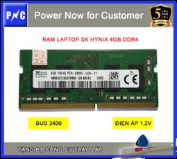 Combo RAM laptop DDR4 2400 4GB SK Hynix + Bộ công cụ tháo lắp, BH 5 năm