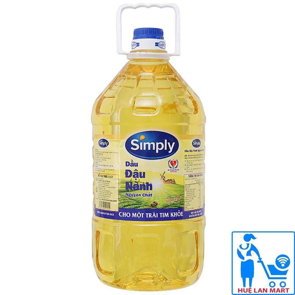 Dầu đậu nành nguyên chất Simply 5 lít