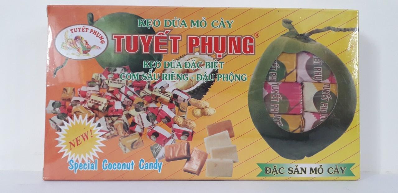 COMBO 2 HỘP Kẹo dừa đậu phộng sầu riêng đặc biệt Tuyết Phụng_Bến Tre