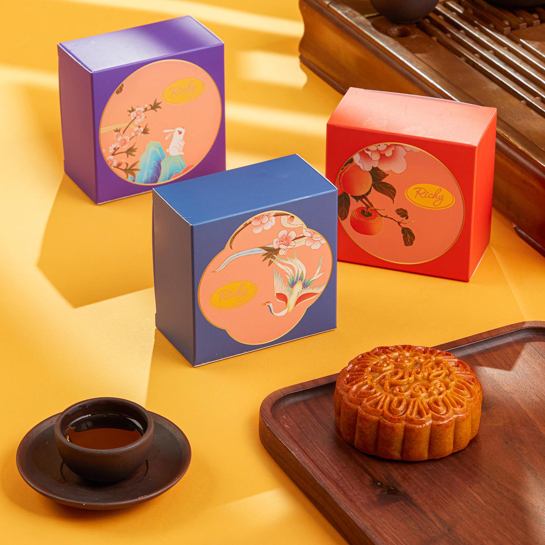 Bánh trung thu Vũ Nguyệt Richy bánh nướng bánh dẻo cao cấp