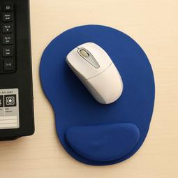 Miếng lót chuột EVA PU có đệm êm giảm mỏi tay hình oval nhỏ gọn, tiết kiệm không gian bàn làm việc - màu xanh nước biển MLC37