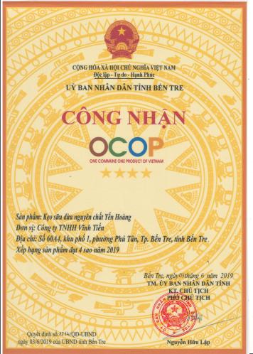 Kẹo Sữa Dừa Nguyên Chất Yến Hoàng (Túi 1kg) - Đặc sản Bến Tre