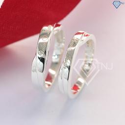 Nhẫn đôi bạc nhẫn cặp bạc đẹp giá rẻ khắc tên theo yêu cầu ND0079 - Trang Sức TNJ