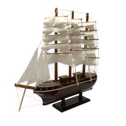 Mô hình thuyền gỗ trang trí France II - thân tàu 25cm