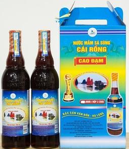 Nước mắm Sá sùng Vân Đồn - 28N - Hộp 2 chai 350ml/chai