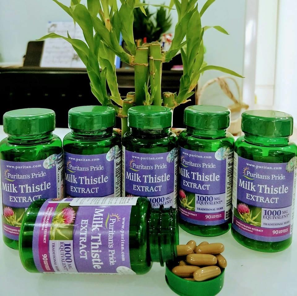 Viên uống bổ gan Milk Thistle Extract 1000 mg (Silymarin) Puritan's Pride- Mỹ