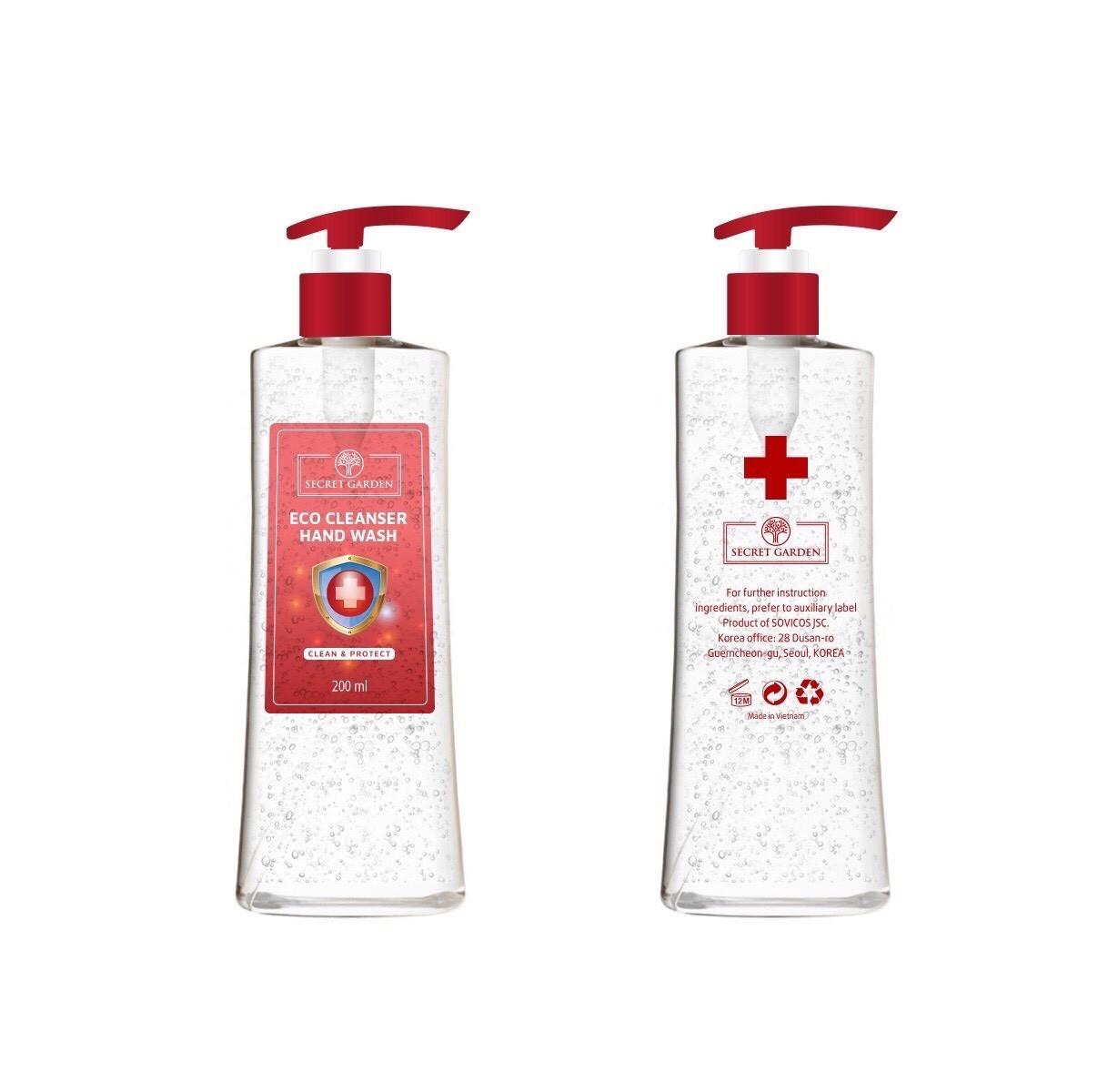 Gel rửa tay khô Eco Cleanser siêu diệt khuẩn tiện lợi Sophia Hàn Quốc 200ml